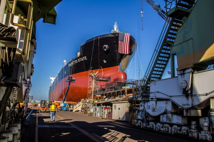 General Dynamics NASSCO Christens and Launches The Palmetto State - Final Ship in ECO Class Tanker Program (Video)