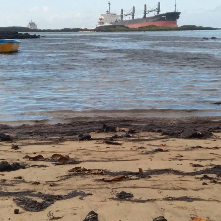 Bulk Carrier Benita aground off Mauritius