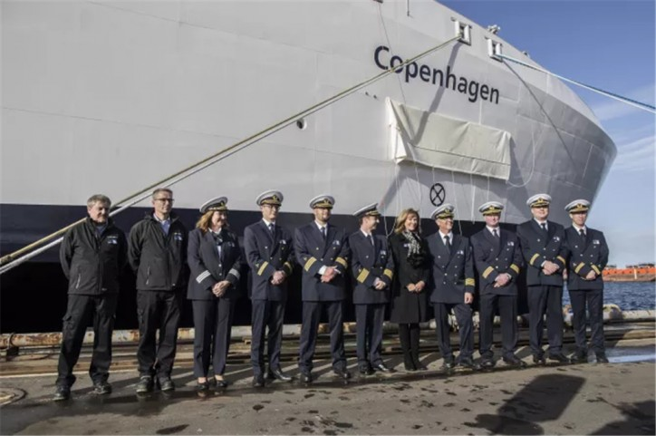 Second Scandlines new hybrid ferry christened at Danish yard Fayard