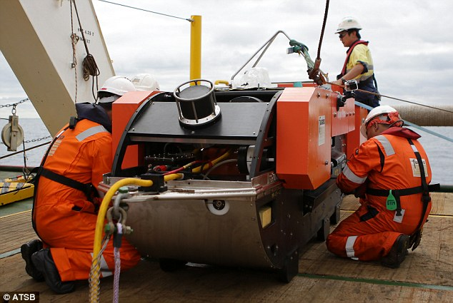 The towfish is one of a number of underwater vehicles. It maps the sea floor using what's known as 'side sonar'