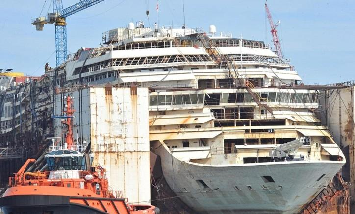 Costa Concordia takes its final journey ready for dismantling