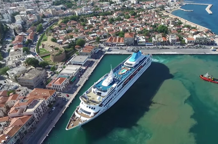 Video: Cruise Ship Celestyal Nefeli arrives at Chios Port