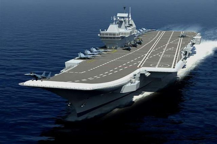 India plans to build second homegrown aircraft carrier