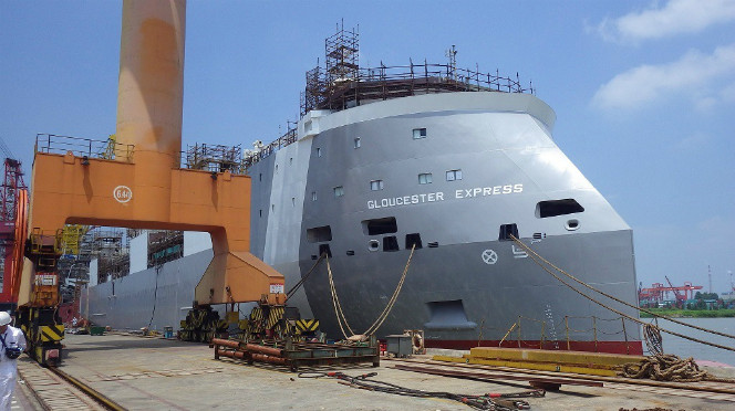 Cosco Shipyard launches new generation livestock carrier for Vroon