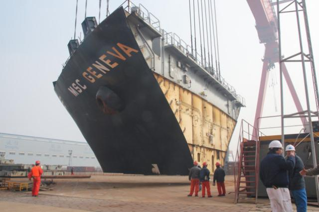 Reederei NSB Reports Completion Of Innovative Boxship Widening Project