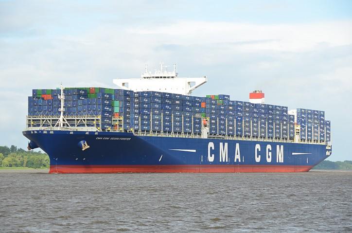 CMA CGM Christens its latest 18,000 TEUs new build
