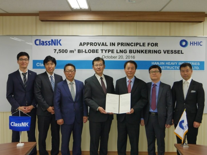 ClassNK Issues Approval in Principle for LNG Bunkering Vessel Design