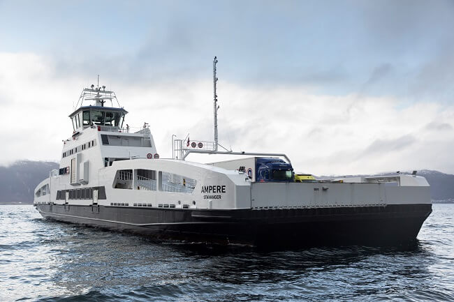 Ampere - World's First Fully Electric Ferry Wins Ship Efficiency Award