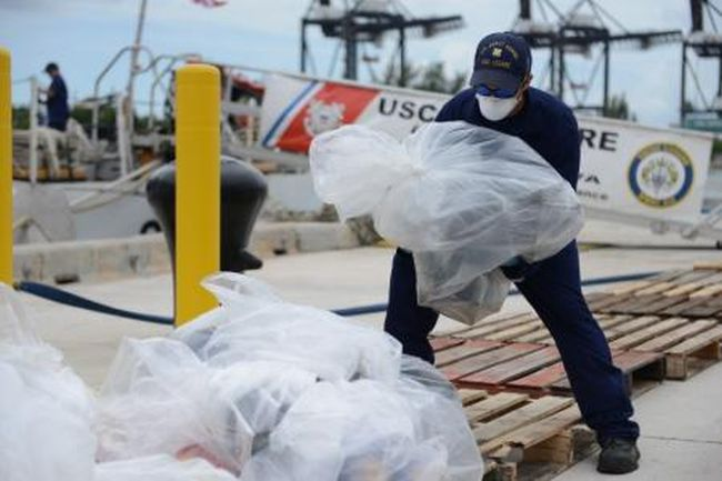 U.S. Navy Ship Returns to U.S with 14 Tons of Seized Cocaine