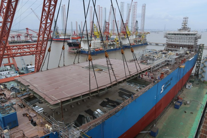 FKAB Reveals New Type of Mid Size 45000m3 LNG Carrier built for Saga LNG Shipping