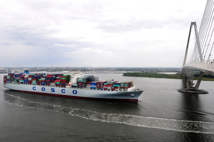 South Carolina Ports Welcomes Biggest Ship Ever to Call East Coast