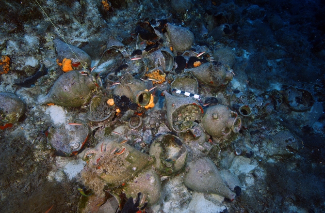 Shipwrecks were found literally everywhere. Over half of the wrecks date to the Late Roman Period (circa 300-600 A.D.).