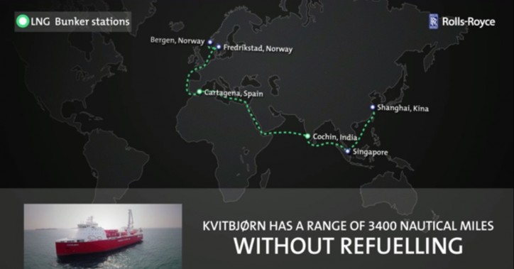 World`s Longest Journey Powered by Rolls-Royce LNG Engine Systems