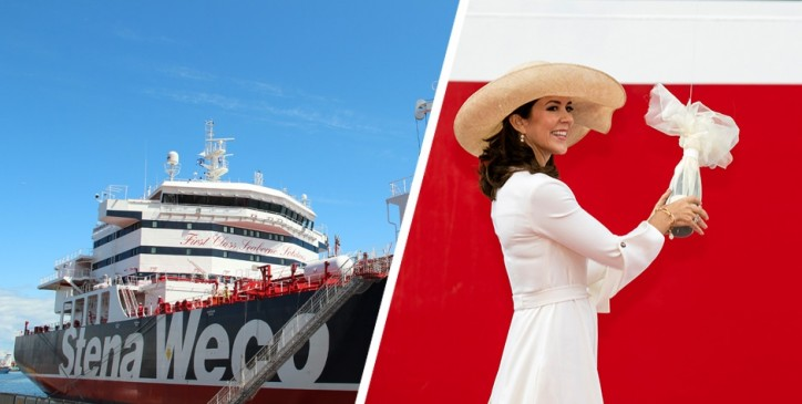 Stenaweco Impulse Named In Copenhagen By H.R.H. Crown Princess Mary Of Denmark