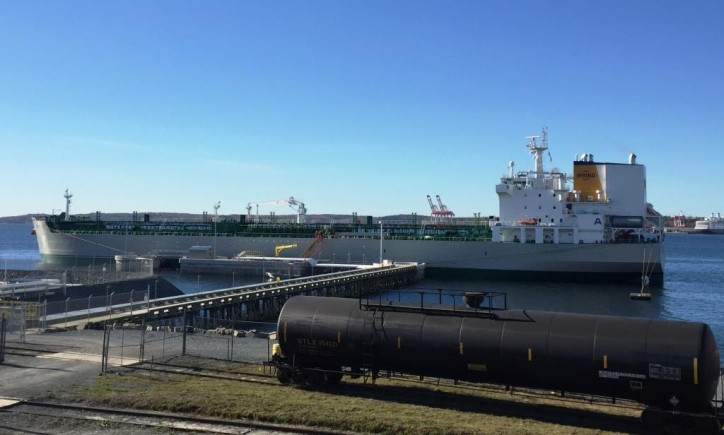 MT Acadian first vessel at new Irving Oil terminal in Dartmouth, Nova Scotia