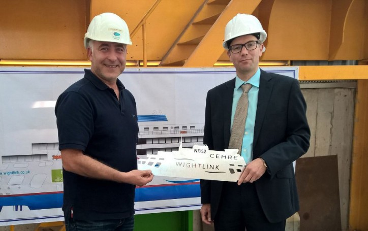 Steel cutting begins on Wightlink's new ferry