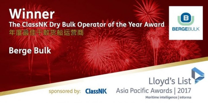 Berge Bulk Wins Dry Bulk Operator Of The Year