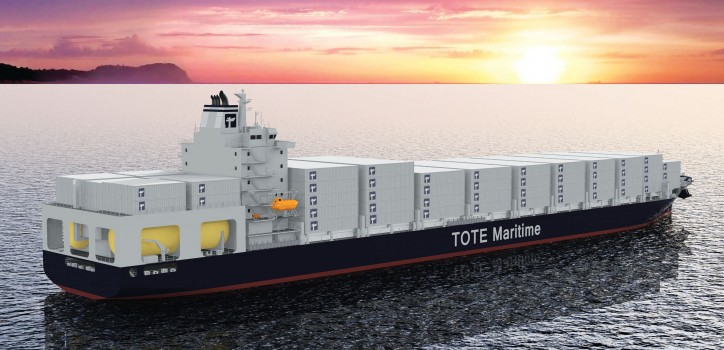 TOTE world's first LNG-fueled containership