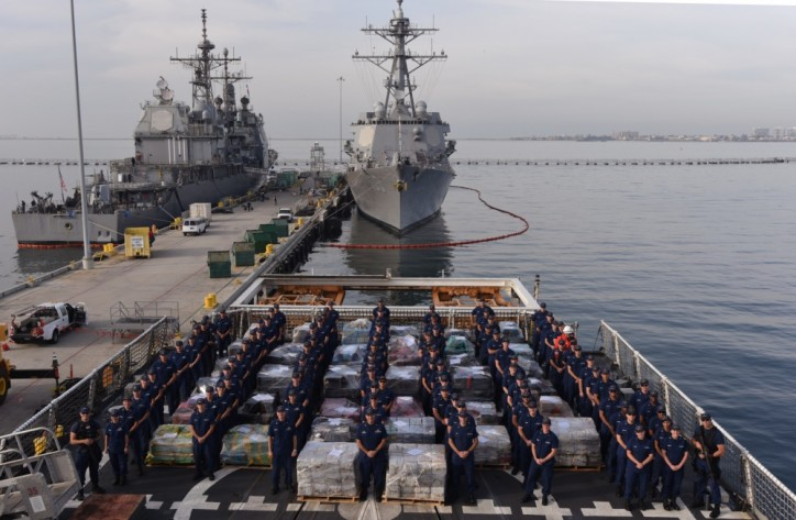 U.S. Coast Guard marks the end of a record year in counterdrug operations (Video)