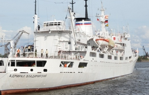 Russian Navy ship Admiral Vladimirsky arrives in Cape Town on way from Antarctica