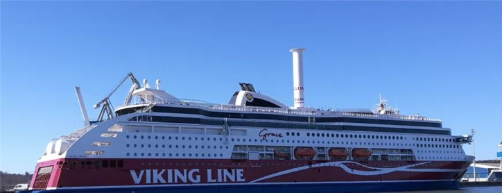 Viking Grace transforms into a sailing ship on 12 April (Video)