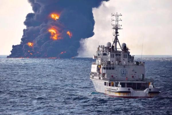Burning oil tanker Sanchi totally sinks: authority (Video)
