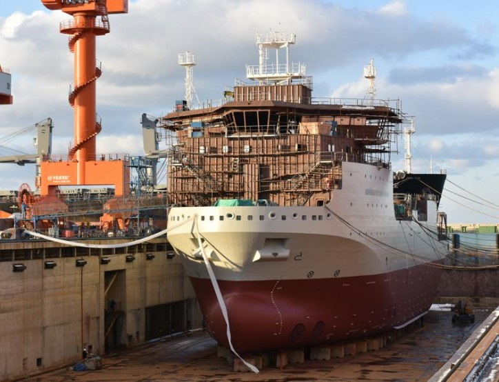 AVIC shipyard launches Jan De Nul's New Multipurpose vessel Adhémar de Saint-Venant