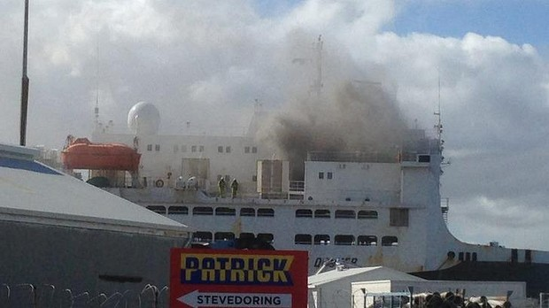 World's largest livestock carrier caught fire at Fremantle, one crew member in critical condition 3
