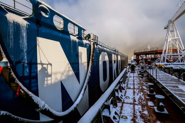 The Umba VLCC has been fully refurbished to meet the climatic conditions of the Arctic Circle.