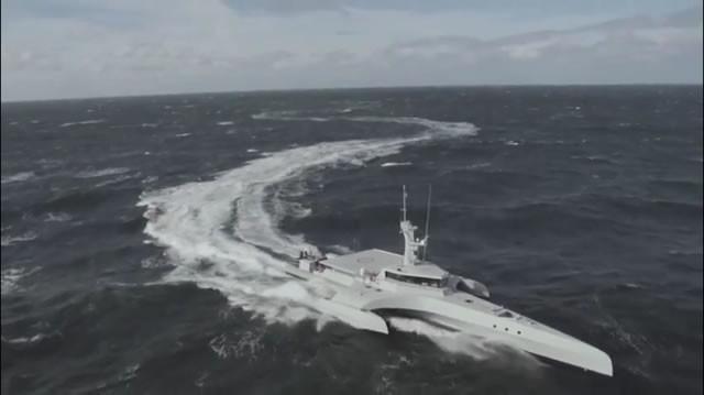 CMN's Ocean Eagle 43 Trimaran Patrol Vessel Demonstrating Seakeeping in Sea State 5