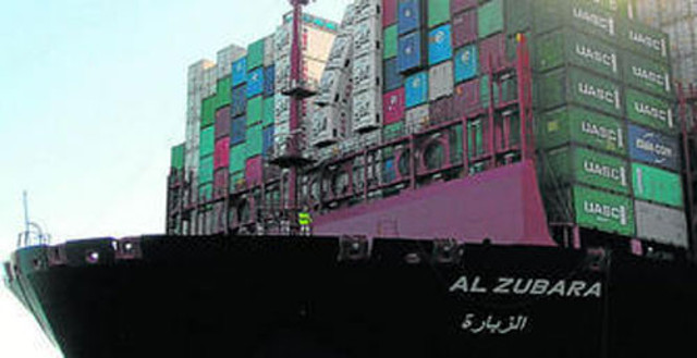 Boxship Al Zubara lost containers and suffered damages in her maiden voyage in the Mediterranean Sea