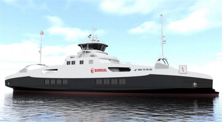 VARD secures contract for the construction of one fully electrical battery-powered car and passenger ferry for Boreal