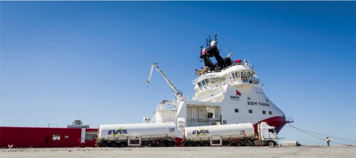 EVOL LNG undertakes Australia's first LNG bunkering