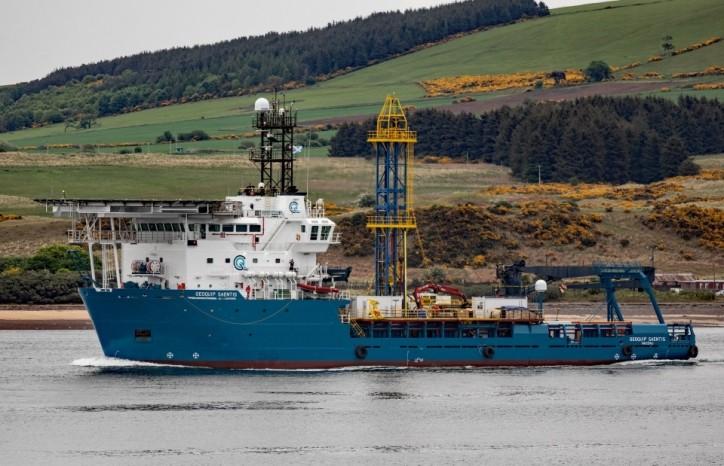 Geoquip Saentis sails to her maiden job