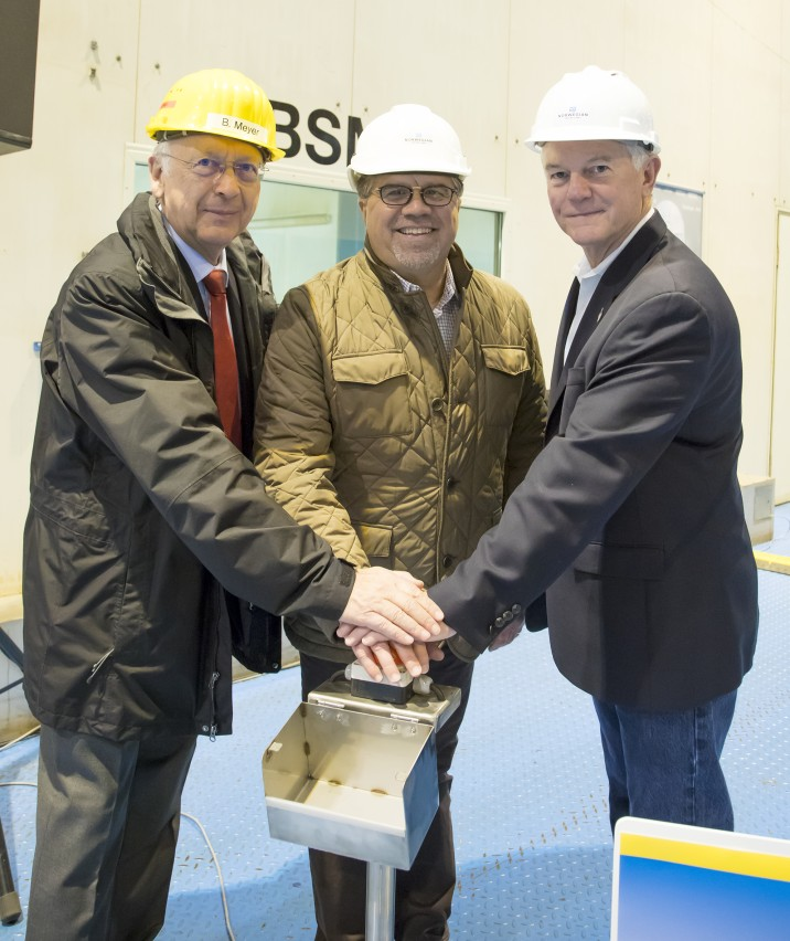 Steel cutting for Norwegian Bliss at Meyer Werft