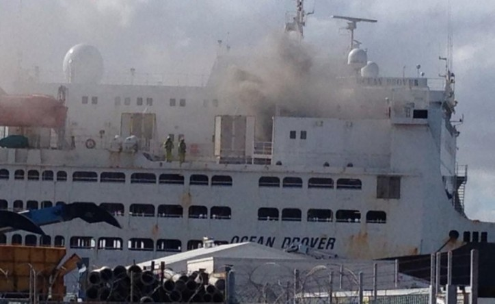 World's largest livestock carrier caught fire at Fremantle, one crew member in critical condition 2