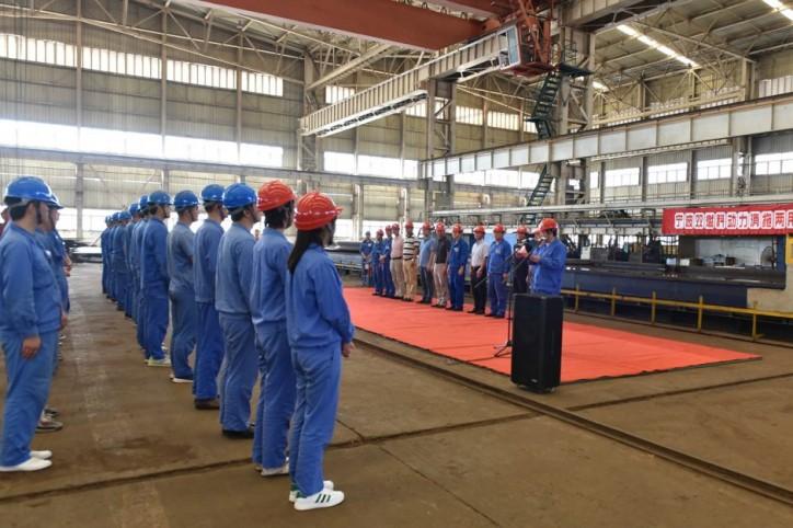 Steel-cutting ceremony for new RAstar 3800-DF design at Jiangsu Zhenjiang Shipyard, China