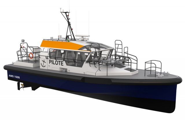 France's Alumarine Shipyard begins building of a new 15m pilot boat for an African port