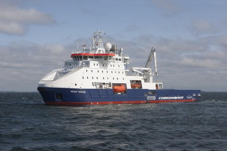 PAO Sovcomflot new icebreaking standby vessel named Fedor Ushakov