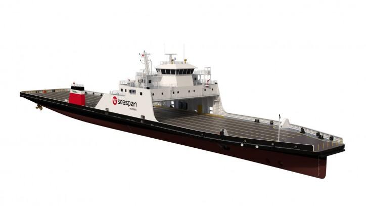 Damen building two LNG-Hybrid RoRo ferries for Seaspan