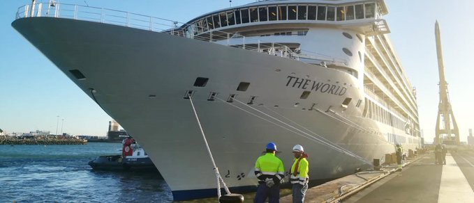 Cruise Ship The World In Dry Dock For 35 Days; Blue Water Manages The Entire Logistics For The project