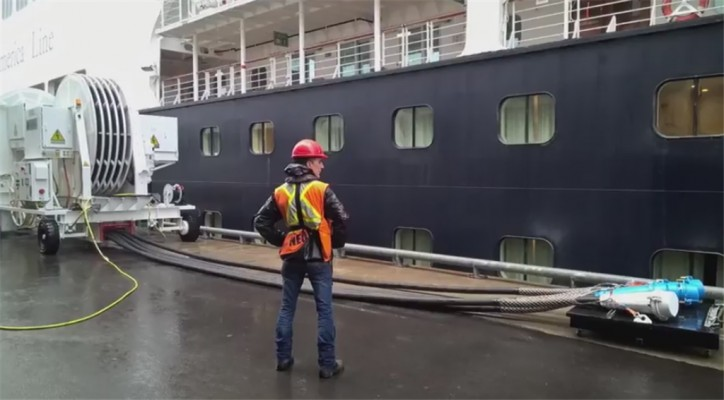Cruise ships can now be powered by electricity at the Port of Montreal (Video)