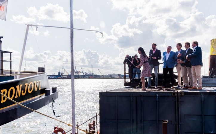 Christening of electric inland vessel BON JOVI in Rotterdam