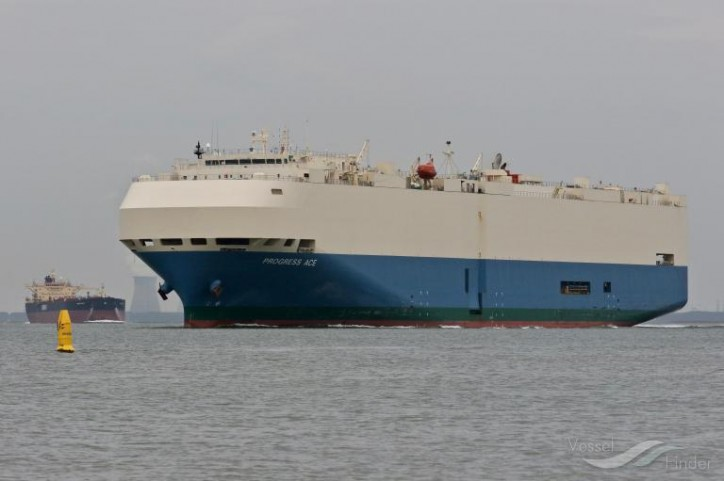 MOL Car Carrier Progress Ace Rescues Castaways in the North Atlantic