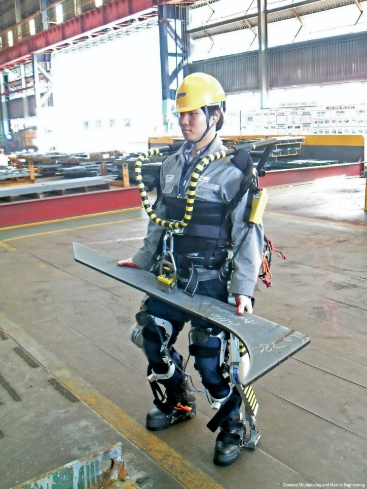 Wearable robotics turn shipyard workers into super humans