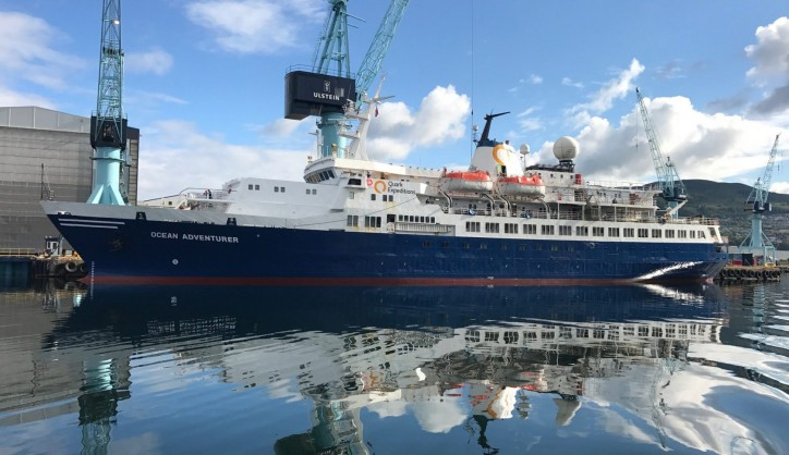 Polar expedition ship Ocean Adventurer upgraded at Ulstein Verft