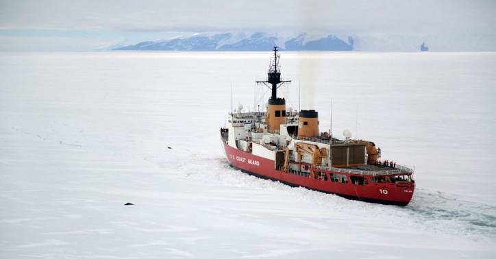 US Coast Guard's only heavy icebreaker arrives at Antarctica