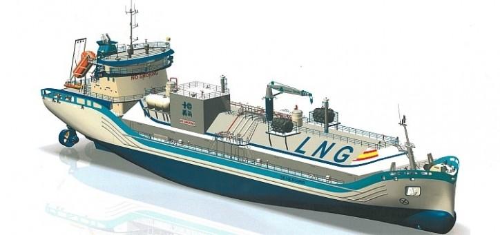 Sener designs LNG bunker-supply ship