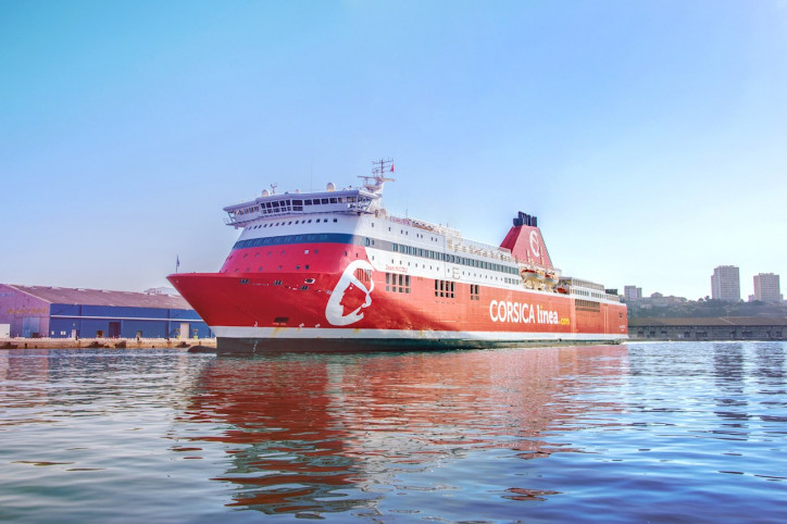ABB enables emissions-free port stay in Marseille for Corsica Linea ferries