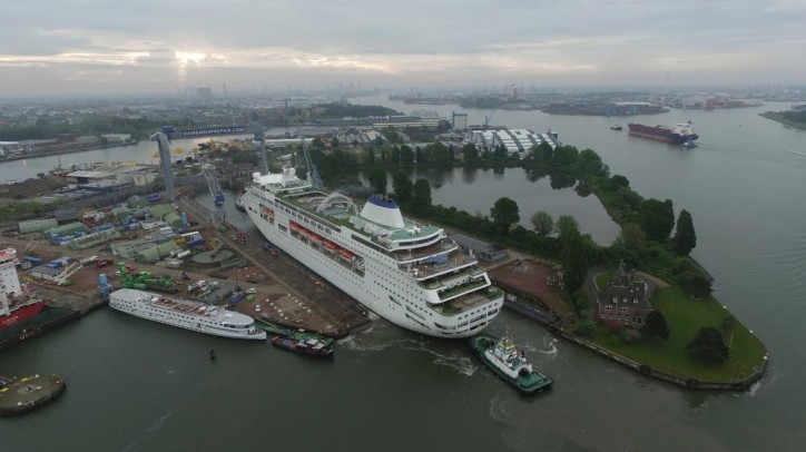 Damen Shiprepair completed maintenance and repair works on the newest member of CMV's fleet - the cruise ship Columbus
